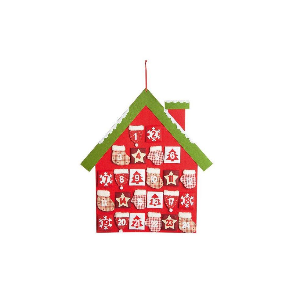 Hotex Adventskalender Haus, 74 x 61 cm