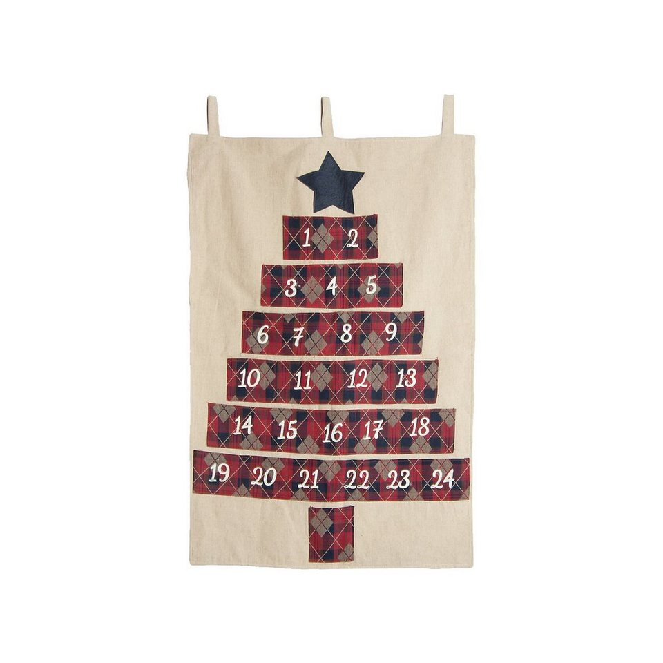 Hotex Adventskalender Baum, 70 x 45 cm