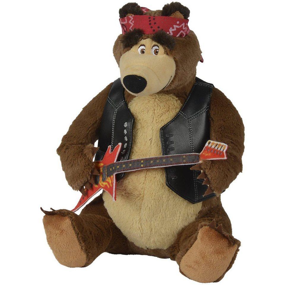 Simba Mascha und der Bär, Rockbär Mischa, 30cm