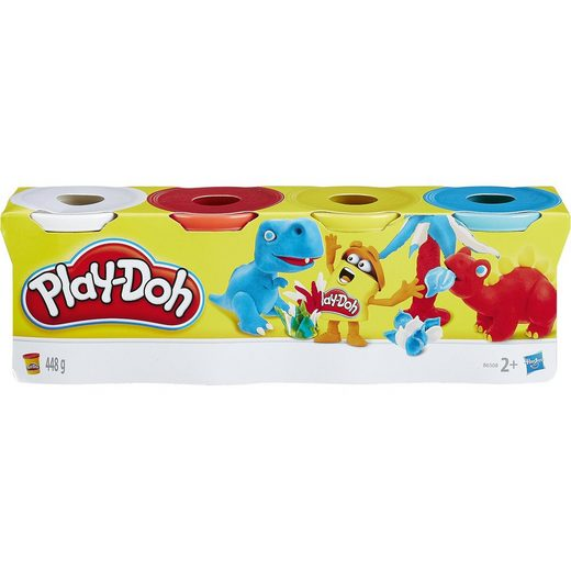 Hasbro Play-Doh Knet-Dosen 4er Pack Grundfarben
