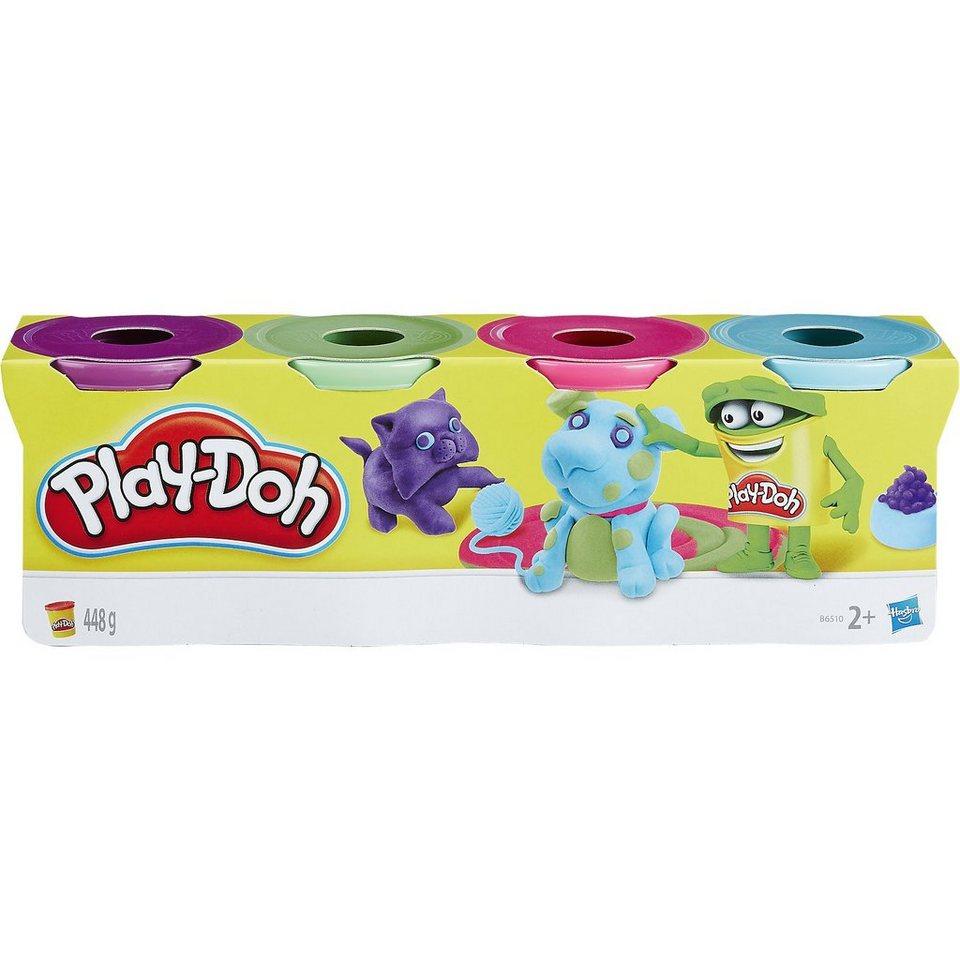 Hasbro Play-Doh Knet-Dosen 4er Pack pastell
