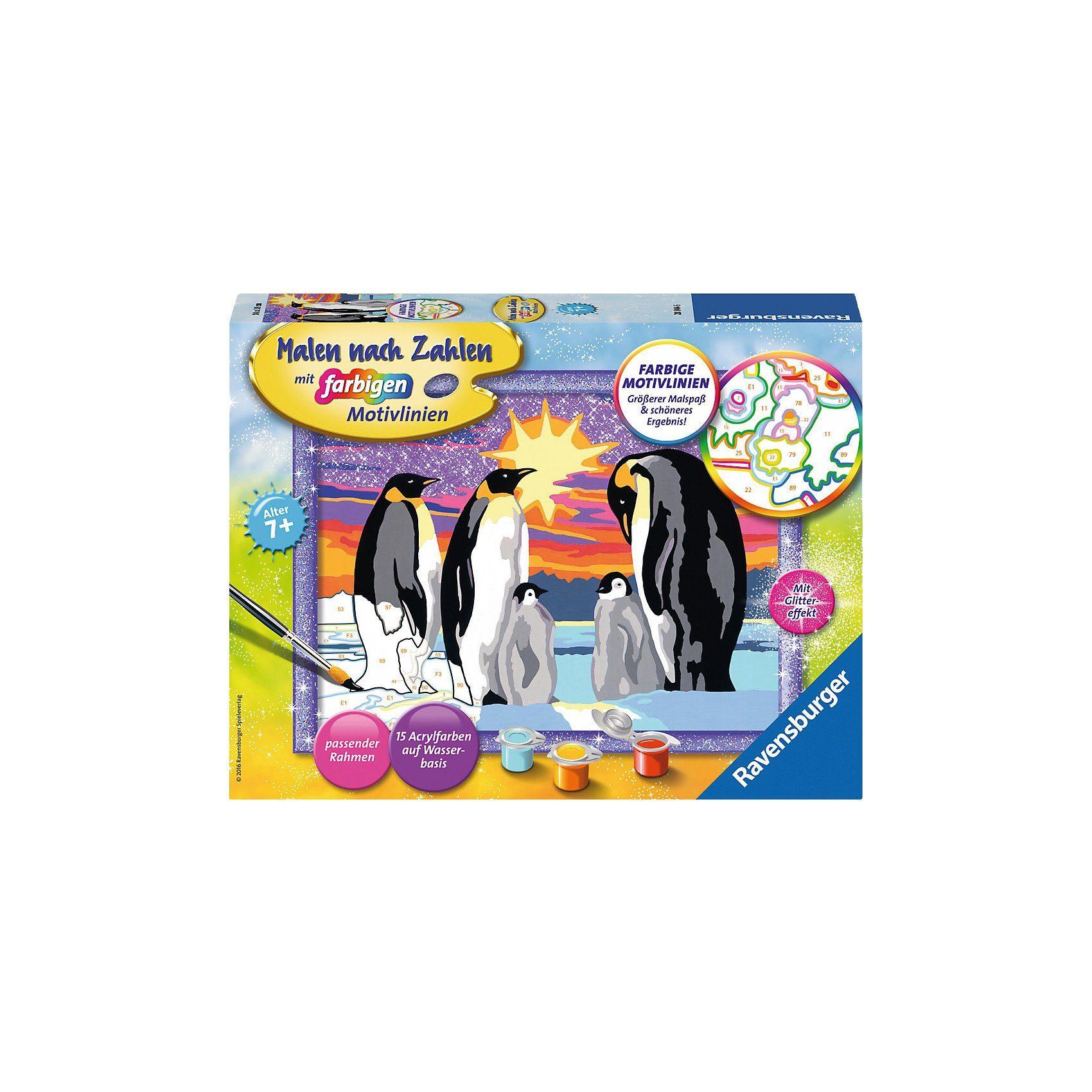 Ravensburger Malen nach Zahlen Pinguinfamilie Serie D