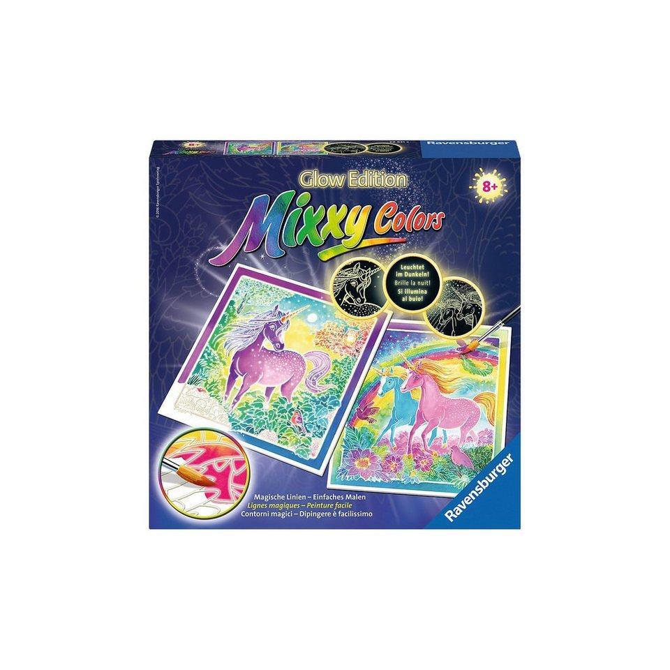Ravensburger Mixxy Colors Malset Traumhafte Einhörner Glow Edition