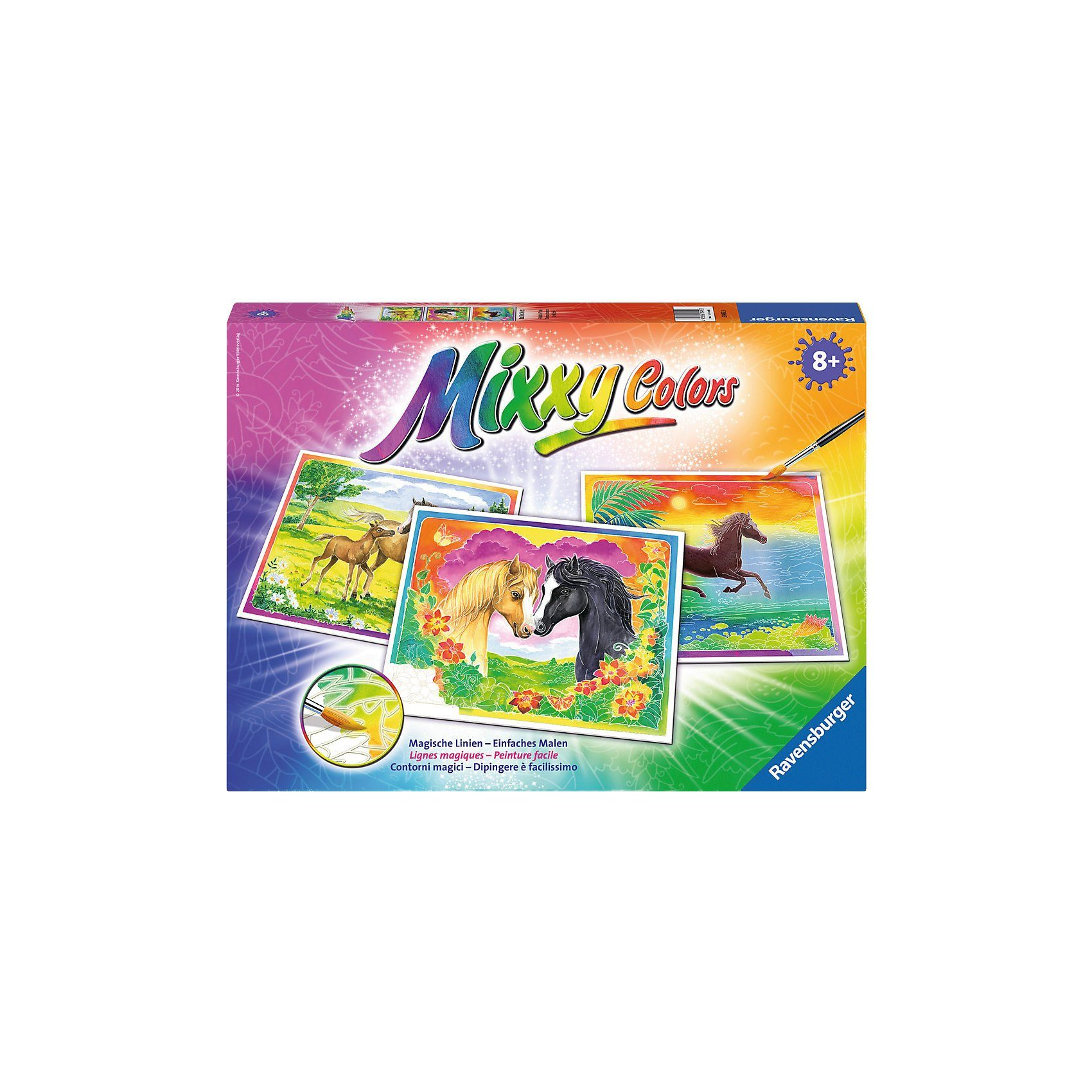Ravensburger Mixxy Colors Malset Glückliche Pferde