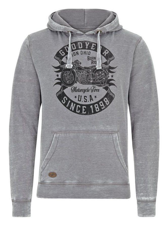 Goodyear Kapuzensweatshirt »NORMAN« in Dark Grey