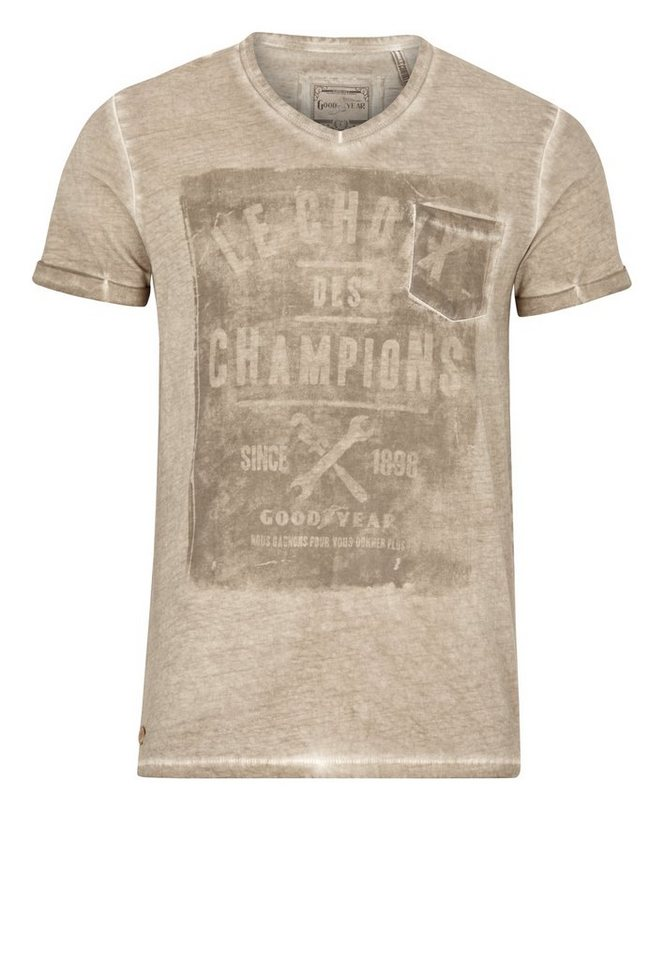 Goodyear T-Shirt COLEMAN »COLEMAN« in Sand