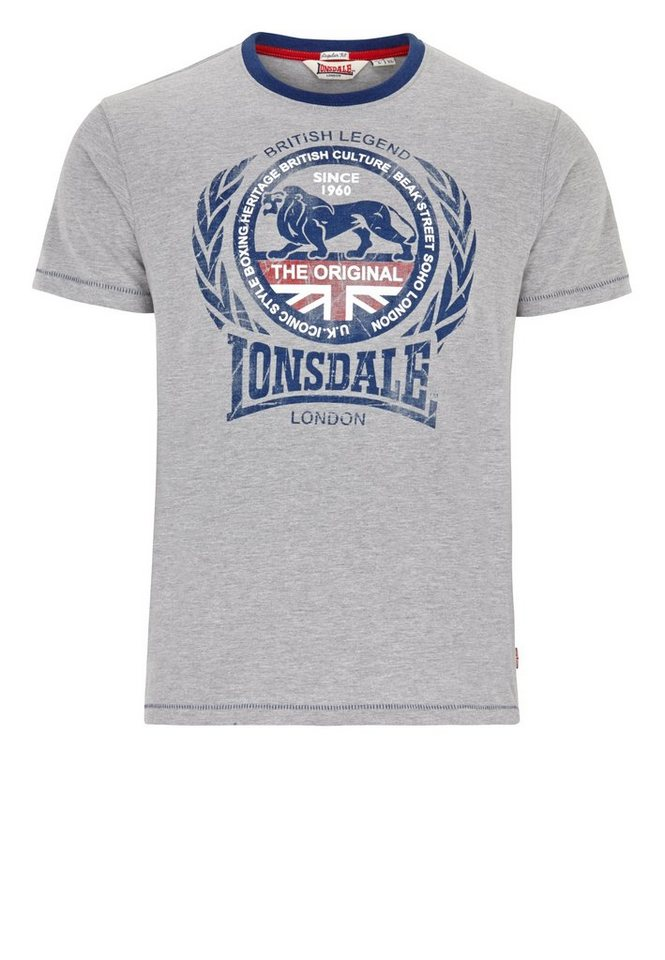 Lonsdale T-Shirt »DARVEL« in Marl Grey