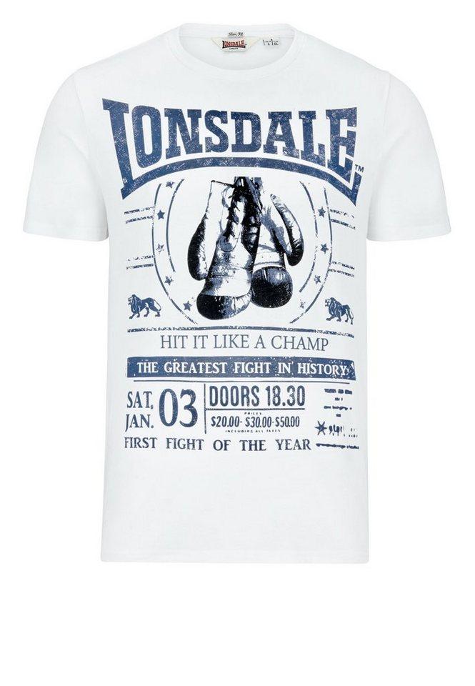 Lonsdale T-Shirt MATSON »MATSON« in White