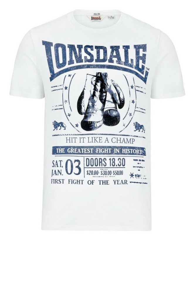 Lonsdale T-Shirt »MATSON« in White