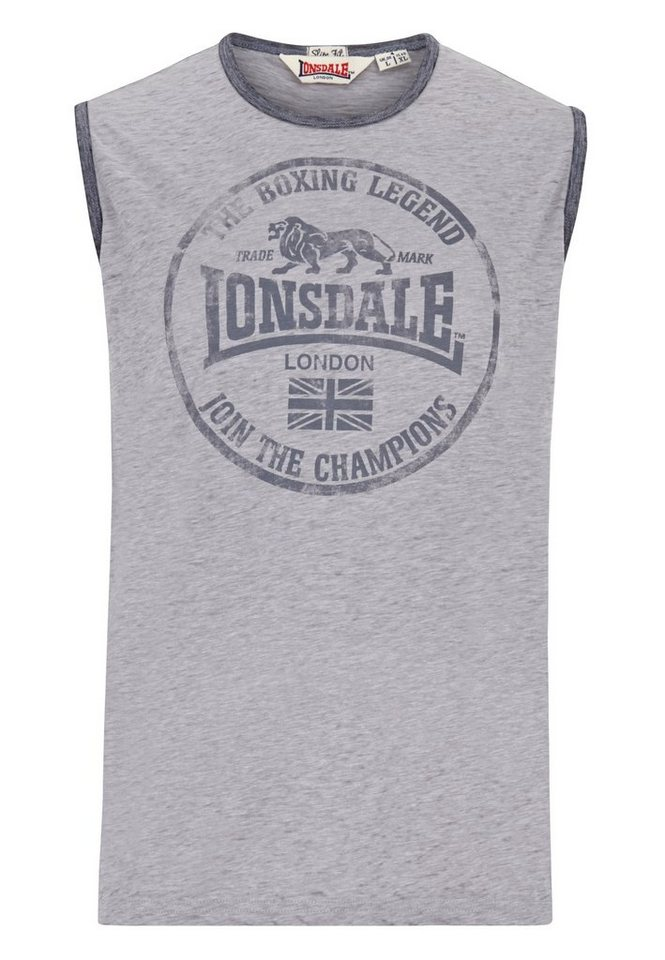 Lonsdale T-Shirt »TORRANCE« in Marl Grey