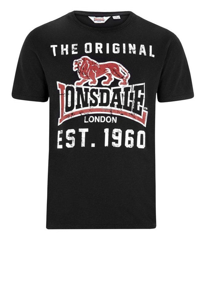 Lonsdale T-Shirt CROSSKIRK »CROSSKIRK« in Black