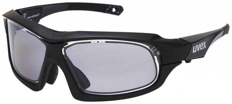 UVEX Radsportbrille »variotronic ff Brille« in schwarz