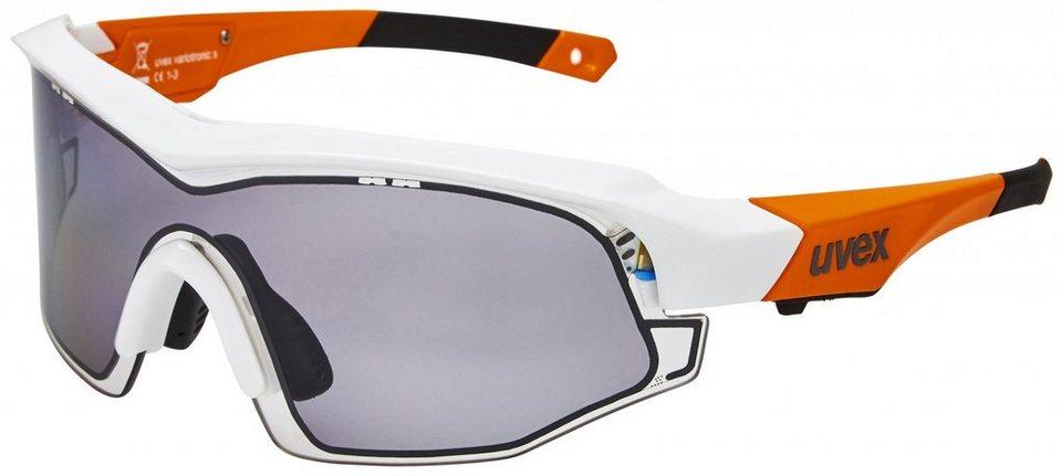 UVEX Radsportbrille »variotronic s Brille« in orange