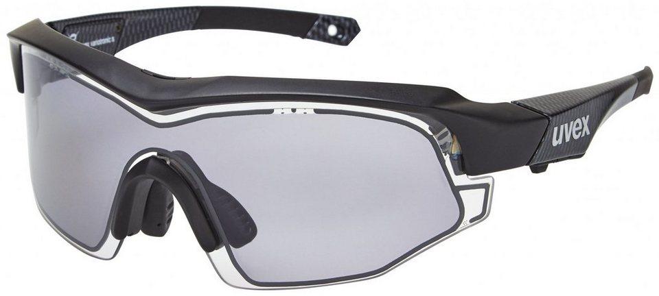 UVEX Radsportbrille »variotronic s Brille« in schwarz