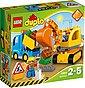 LEGO® Konstruktionsspielsteine »Bagger und Lastwagen (10812), LEGO® DUPLO®«, (26 St), Bild 1