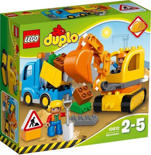 LEGO® Konstruktionsspielsteine »Bagger und Lastwagen (10812), LEGO® DUPLO®«, (26 St)