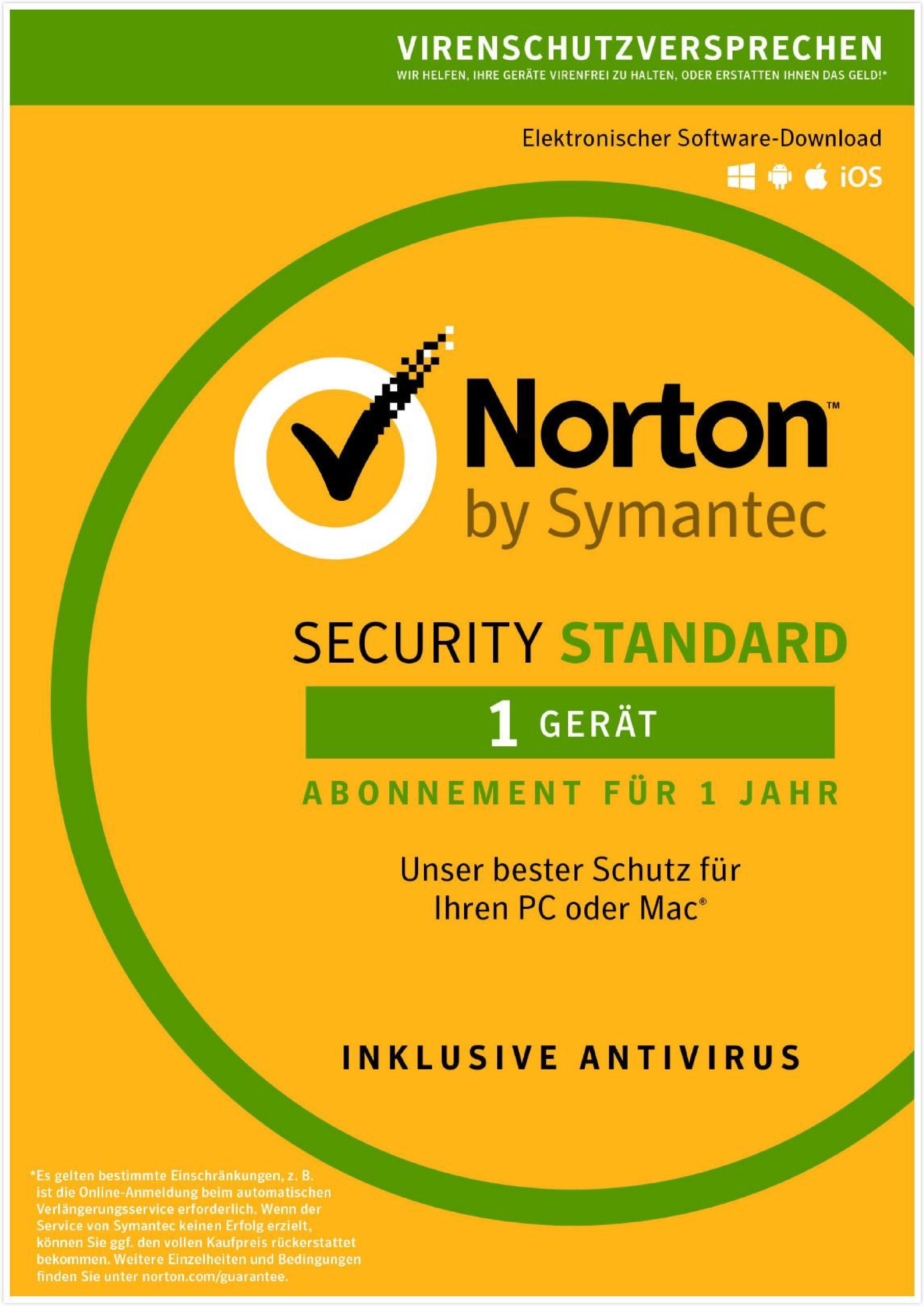 Norton Sicherheitssoftware »Security Standard (1 Benutzer)«