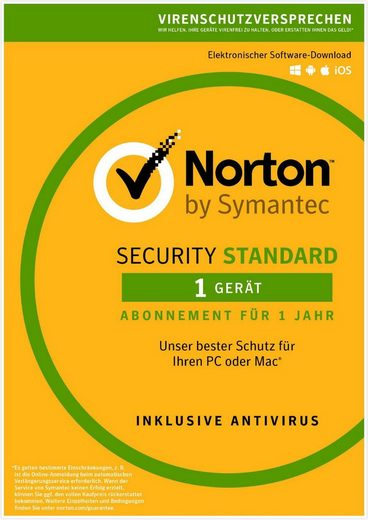 Norton Security Standard Antivirus Software 2018 »Internet Security für ein Gerät«