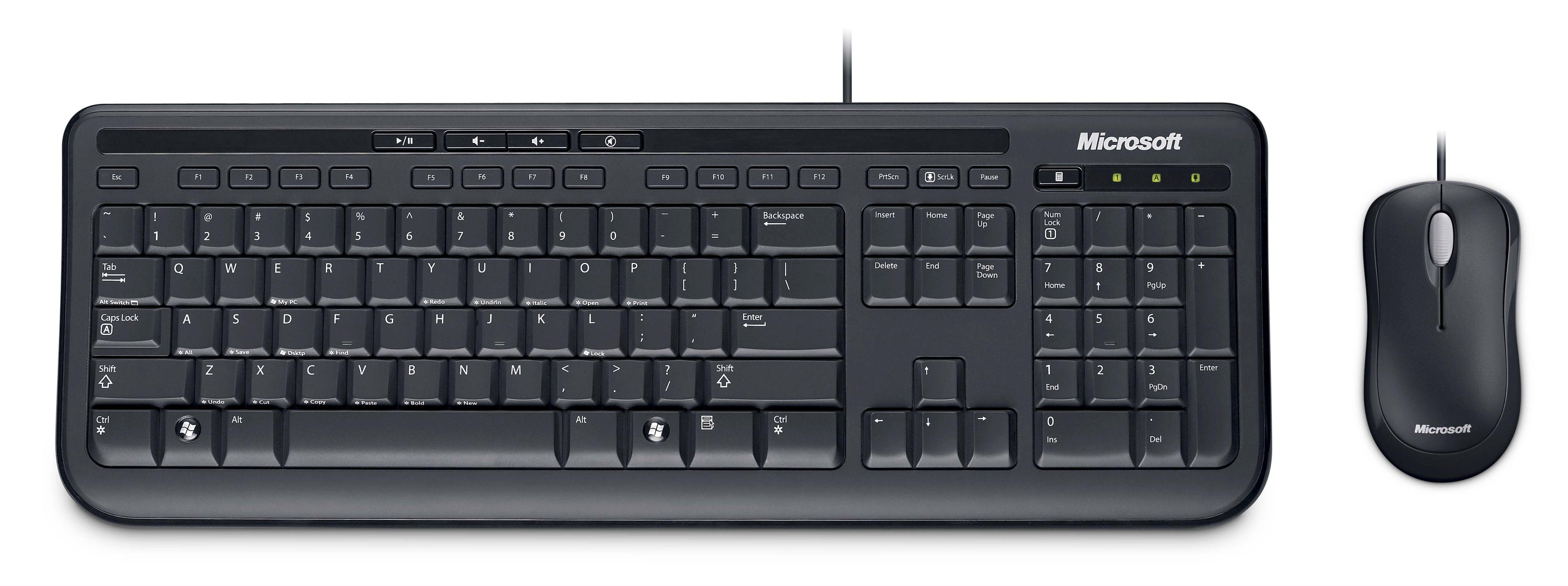 Microsoft Maus und Tastatur Komplettset »Wired Desktop 600 Business«
