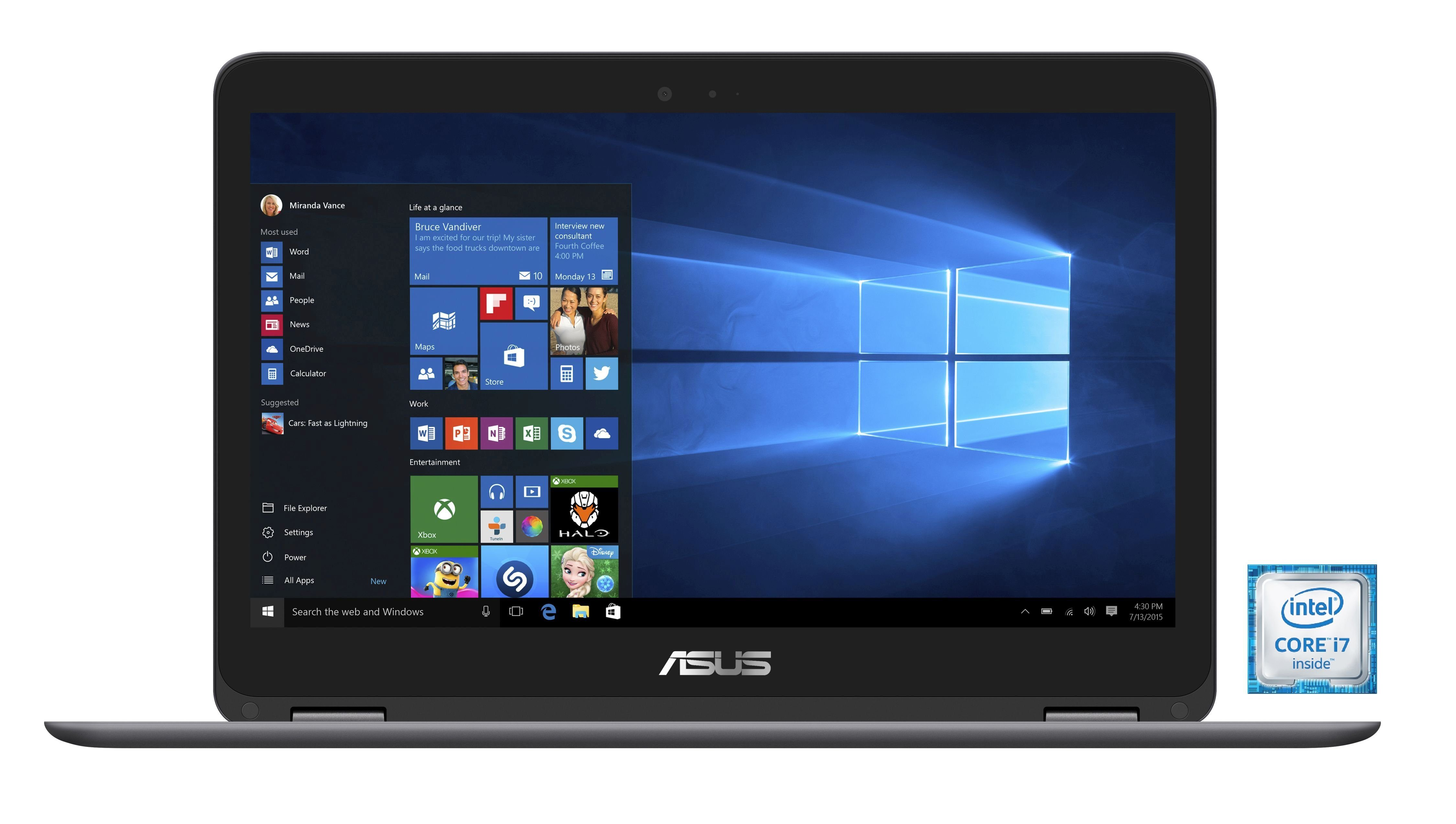 "ASUS UX360UA-C4159T Notebook »Intel Core i7, 33,7cm (13,3""), 512 GB SSD, 8 GB«"
