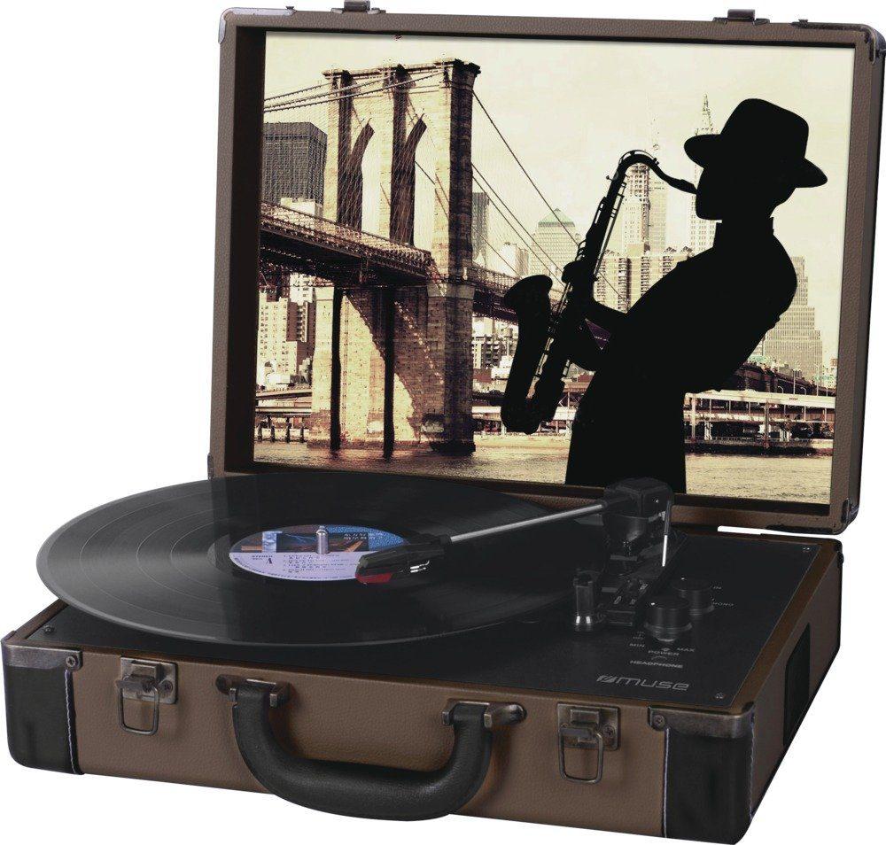 Muse Schallplattenspieler in ausgefallenem Koffer-Design »MT-102«