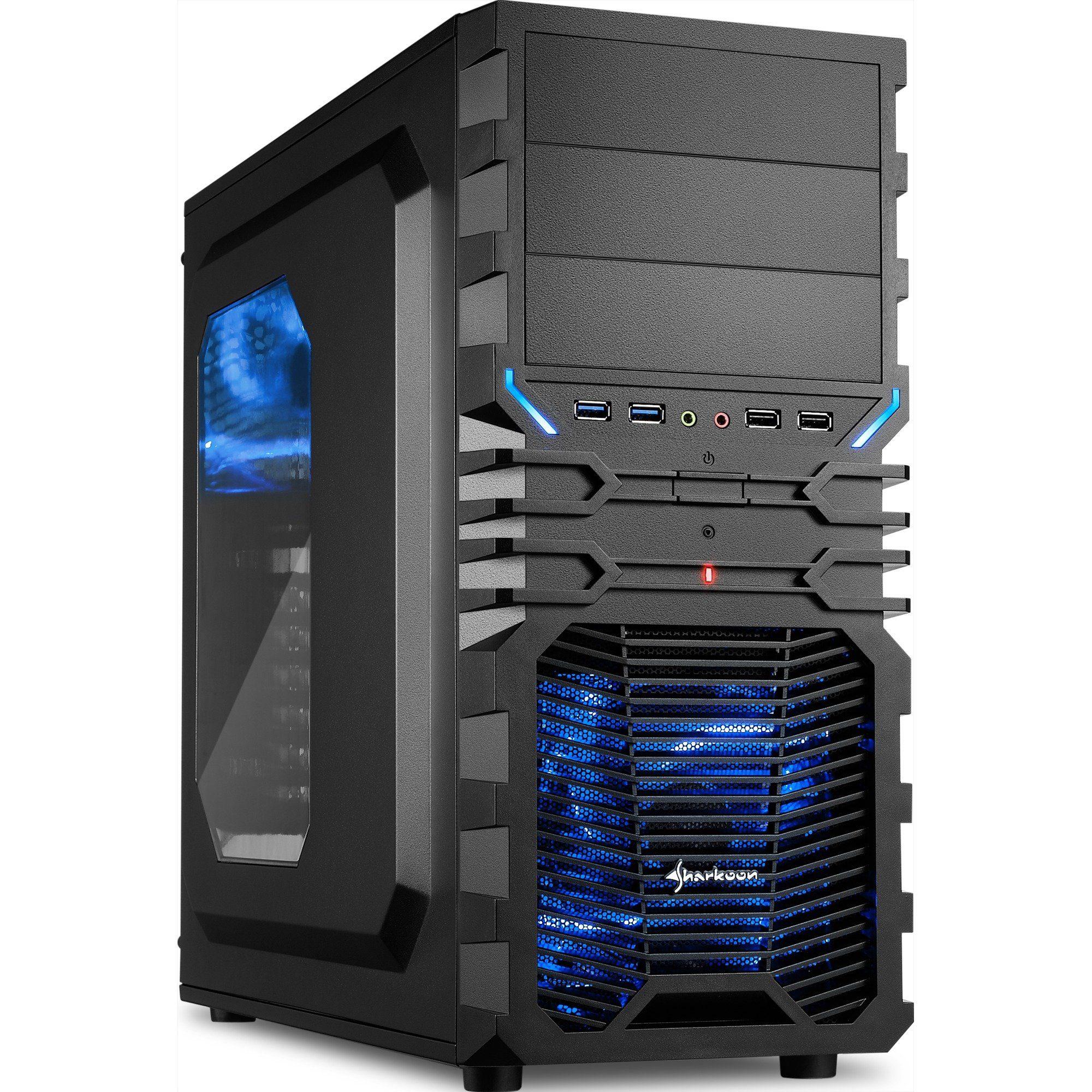 Sharkoon Tower-Gehäuse »VG4-W BLUE«