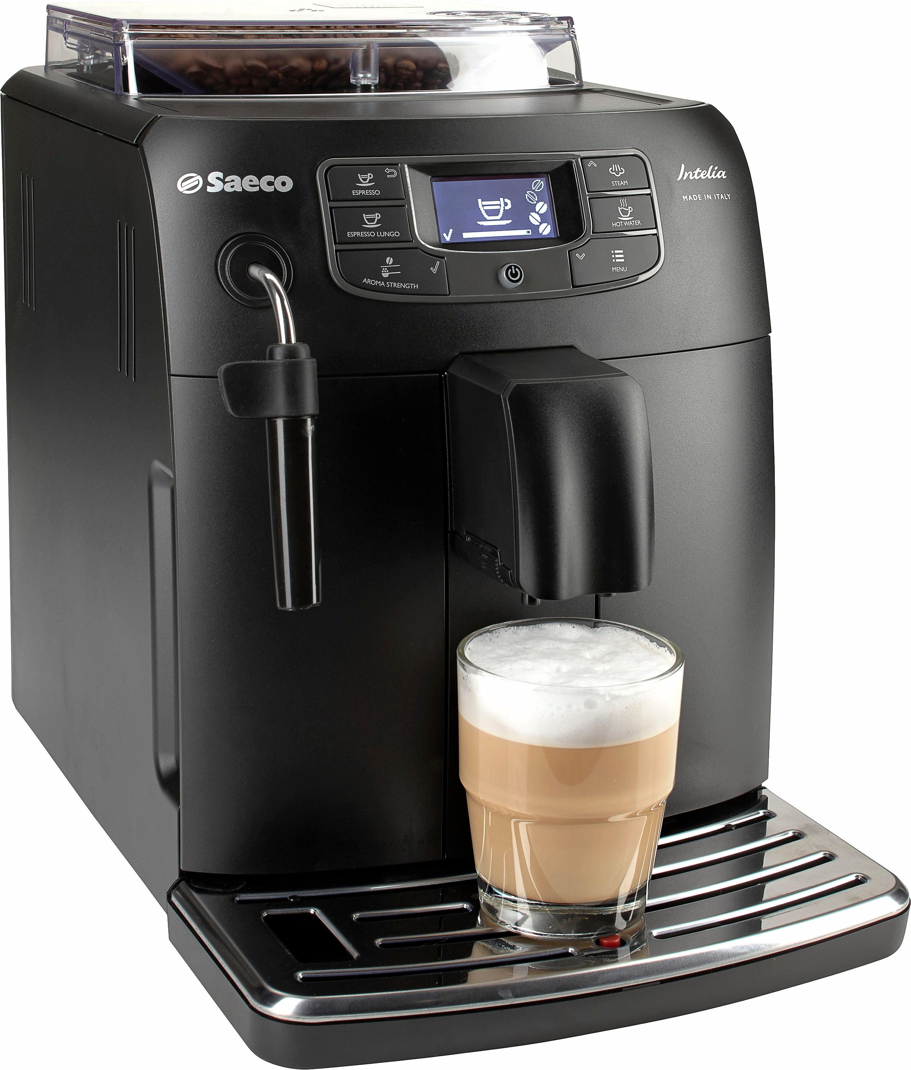 Saeco Kaffeevollautomat HD8900/01 Intelia Deluxe, 1,5l Tank, Scheibenmahlwerk, mit Durchlauferhitzer