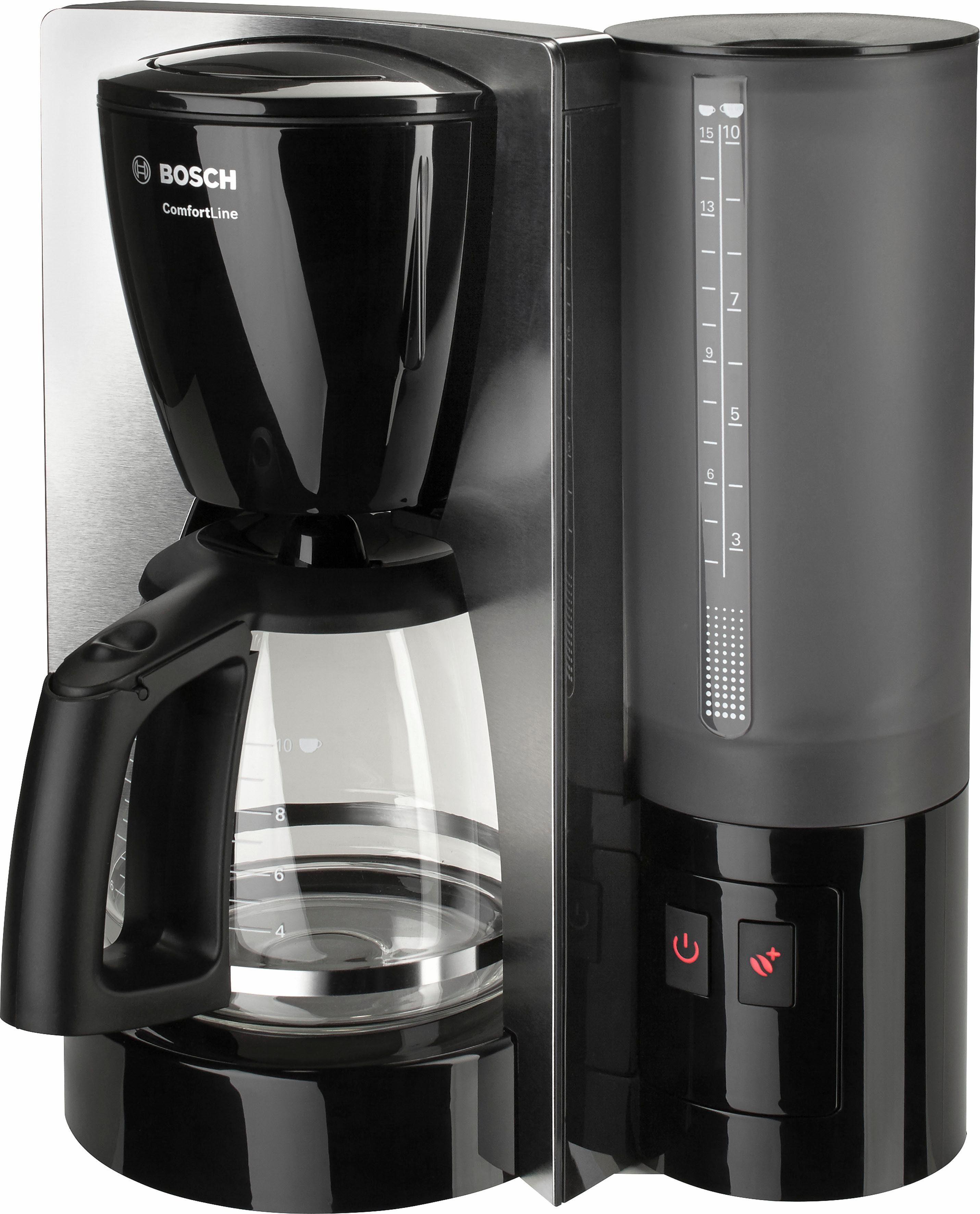 Bosch Filterkaffeemaschine ComfortLine, schwarz /Edelstahl TKA6A643