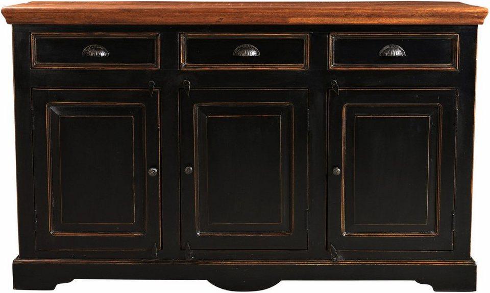 SIT Sideboard »Corsica«, Breite 150 cm in schwarz/honigfarben