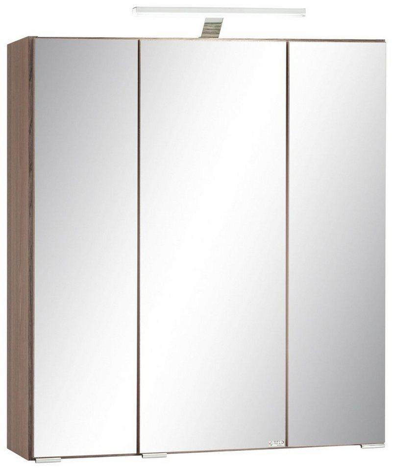 Held Möbel Spiegelschrank »Nizza« in eiche-dunkel
