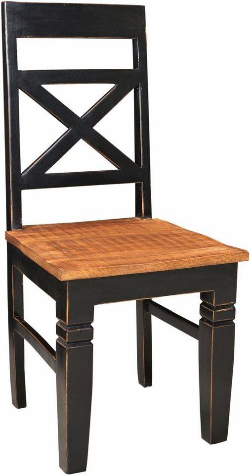 SIT Stuhl »Corsica« im 2-er Set in schwarz/honigfarben