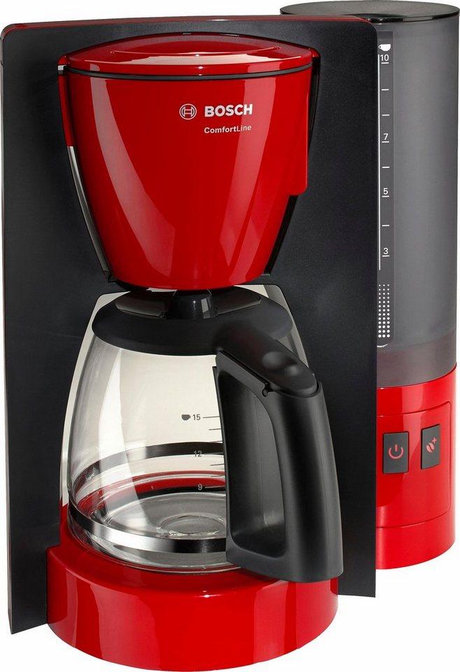 Bosch Filterkaffeemaschine ComfortLine TKA6A044, rot/anthrazit in rot/anthrazit