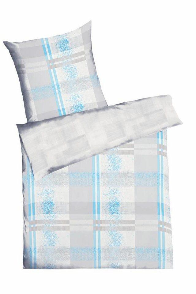Wendebettwäsche, Kaeppel, »Surface«, mit schlichter Wendeseite in azur