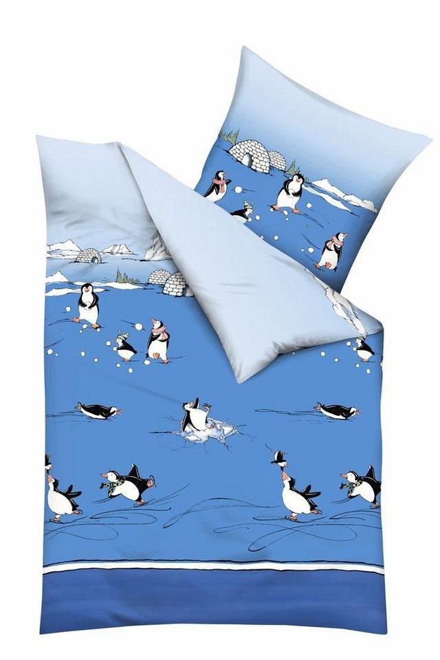 Bettwäsche, Kaeppel, »Pinguine«, mit Pinguinen in blau