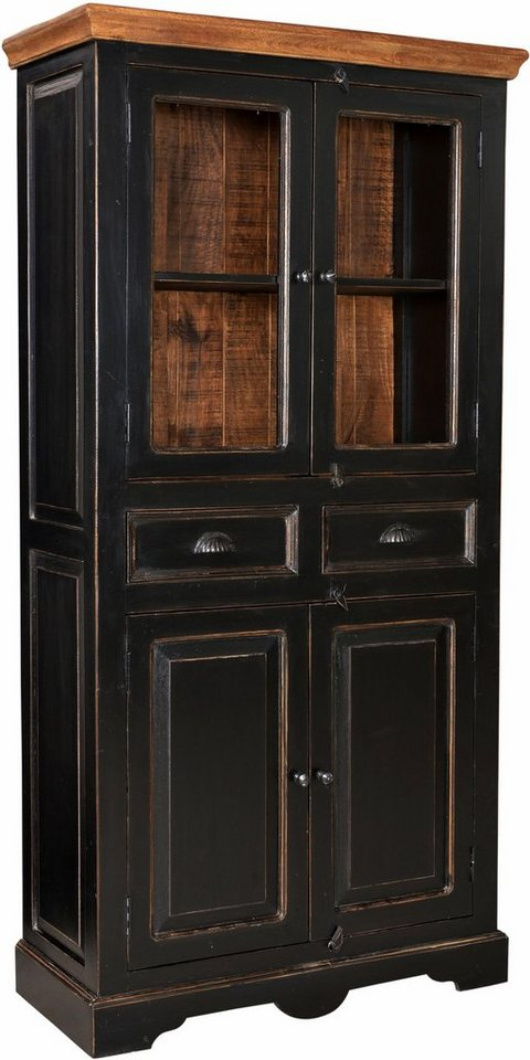SIT Vitrine »Corsica«, Höhe 180 cm in schwarz/honigfarben