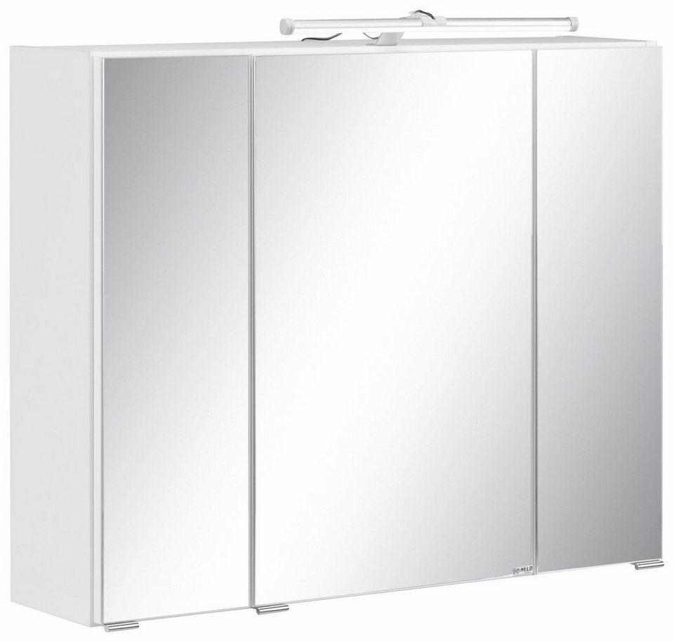 Held Möbel Spiegelschrank »Bubb« in weiß/Spiegel