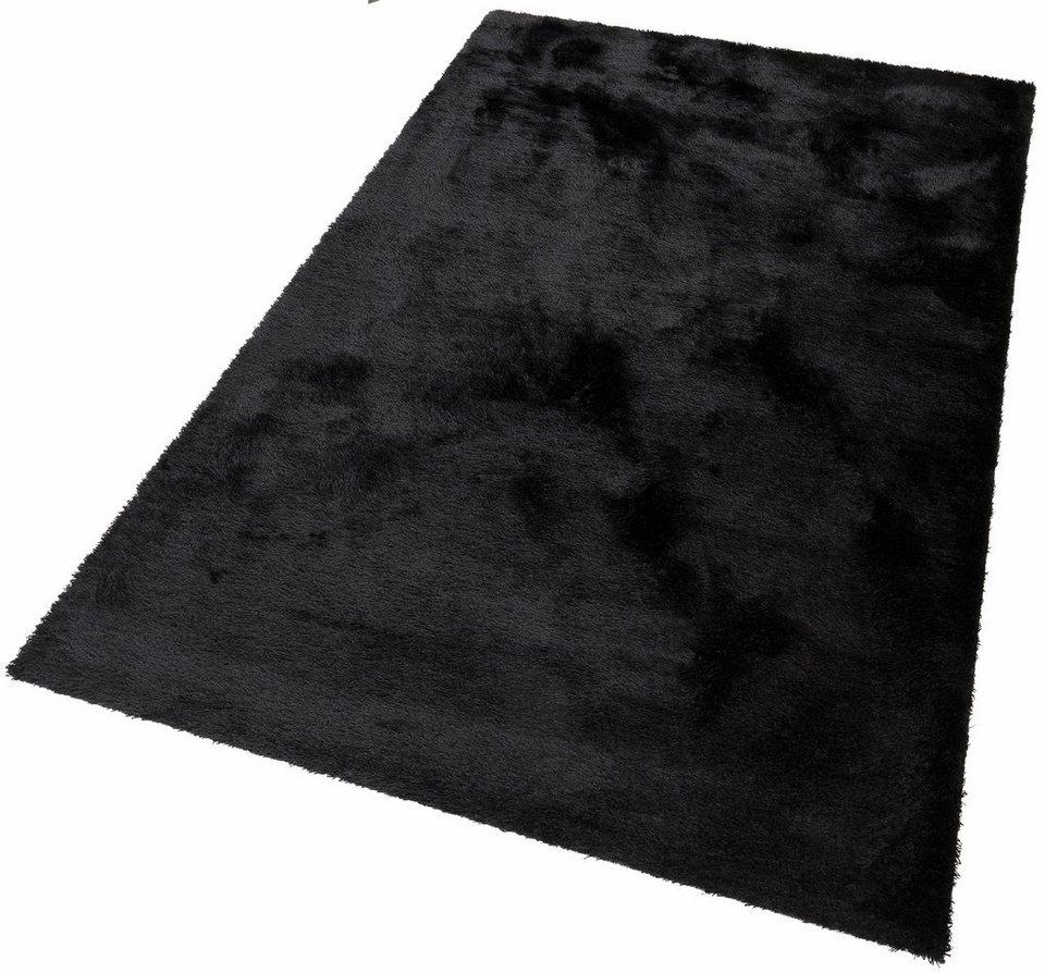 Hochflor-Teppich, Bruno Banani, »Dana«, Höhe 30 mm, handgetuftet in schwarz