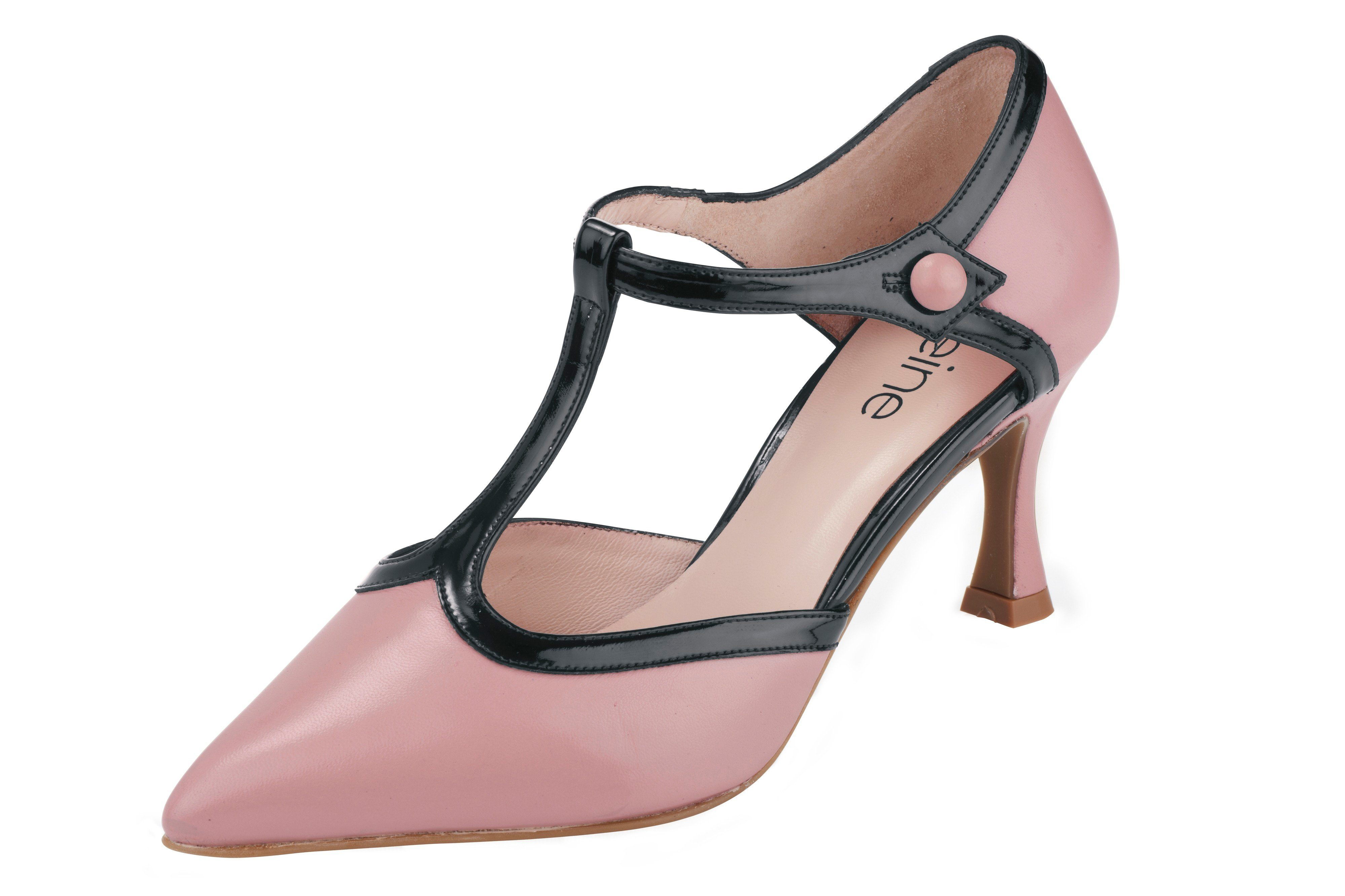heine Heine Pumps Lackstrucktur, rosa, rosé