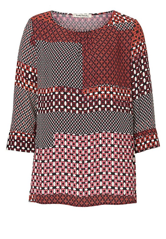 Betty Barclay Bluse in Rot/Schwarz - Rot