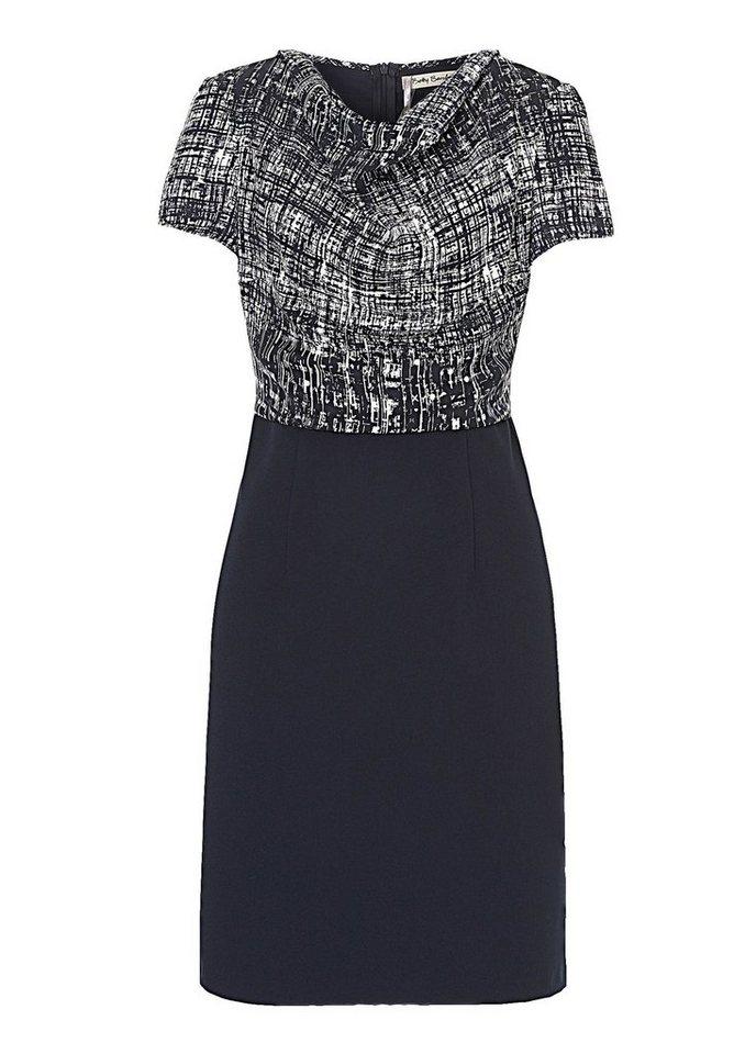Betty Barclay Kleid in Dunkelblau/Weiß - Bu