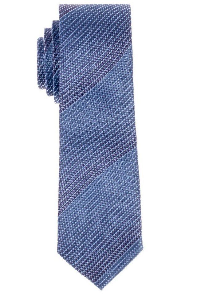 ETERNA Krawatte »schmal« in hellblau