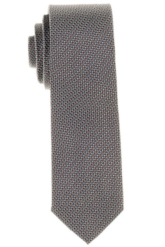 ETERNA Krawatte »schmal« in moosgrün