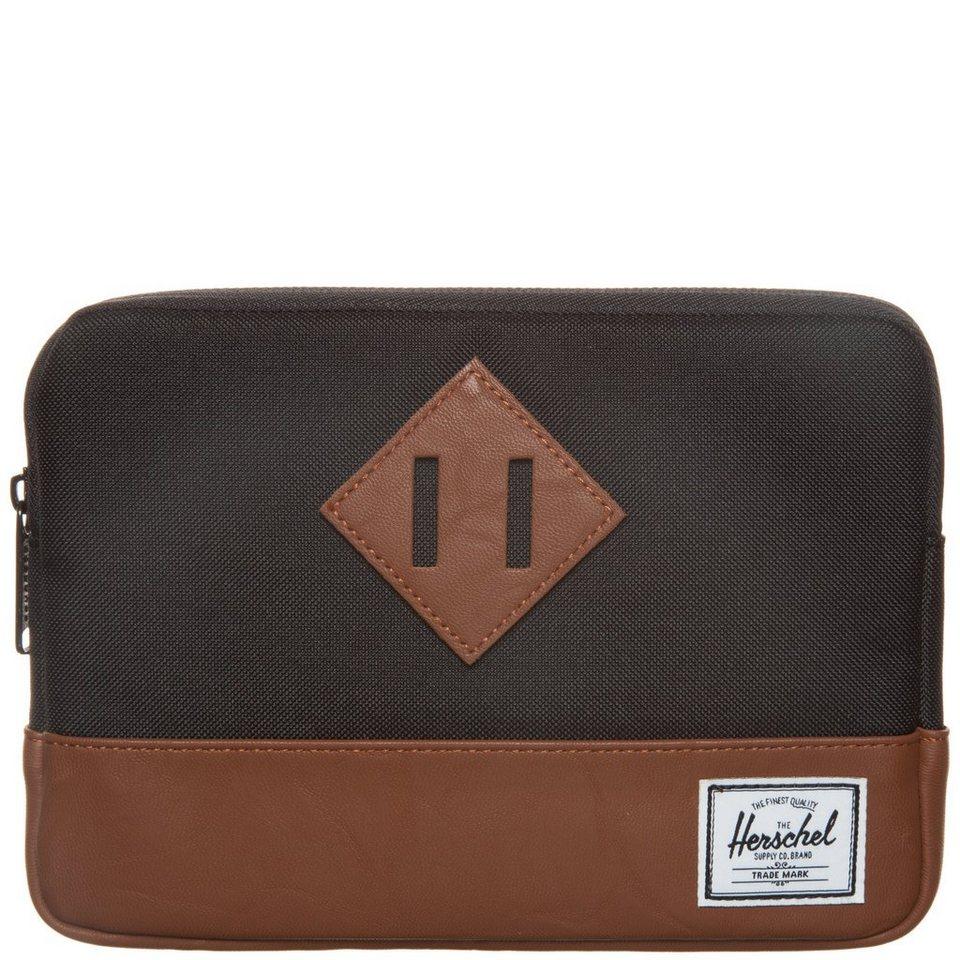 Herschel Heritage Tablet Tasche in schwarz / braun