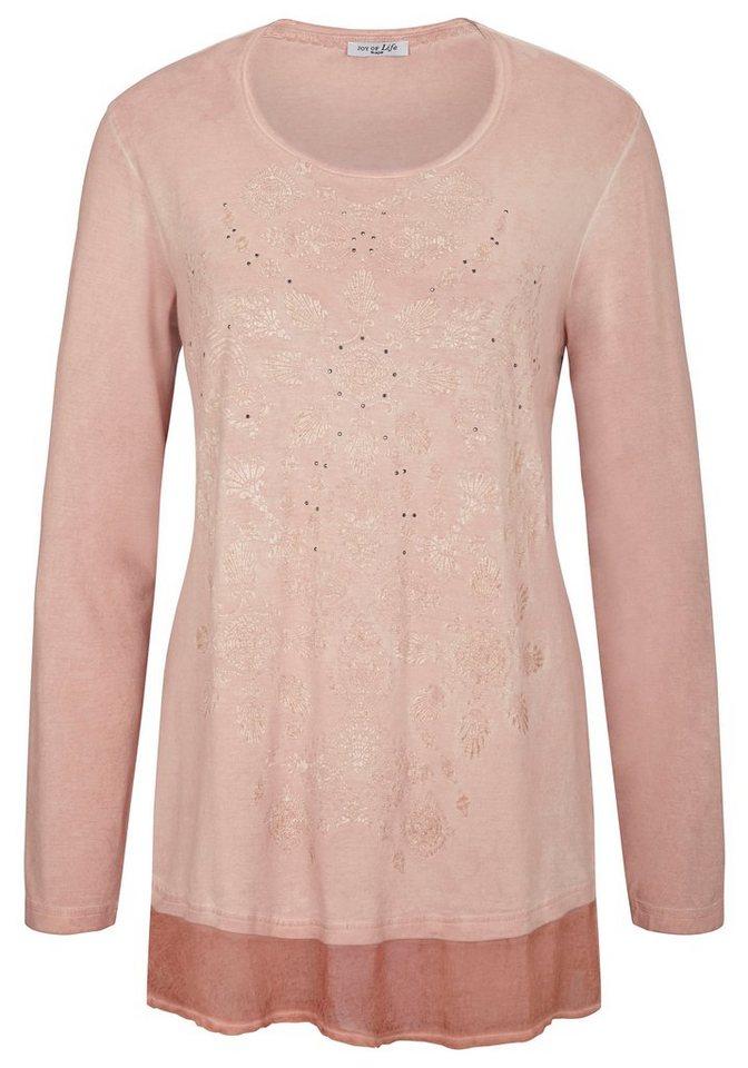 Hajo Shirt Rundhals in rosenquarz