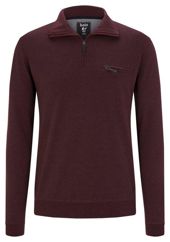 Hajo Leichtsweatshirt in bordeaux