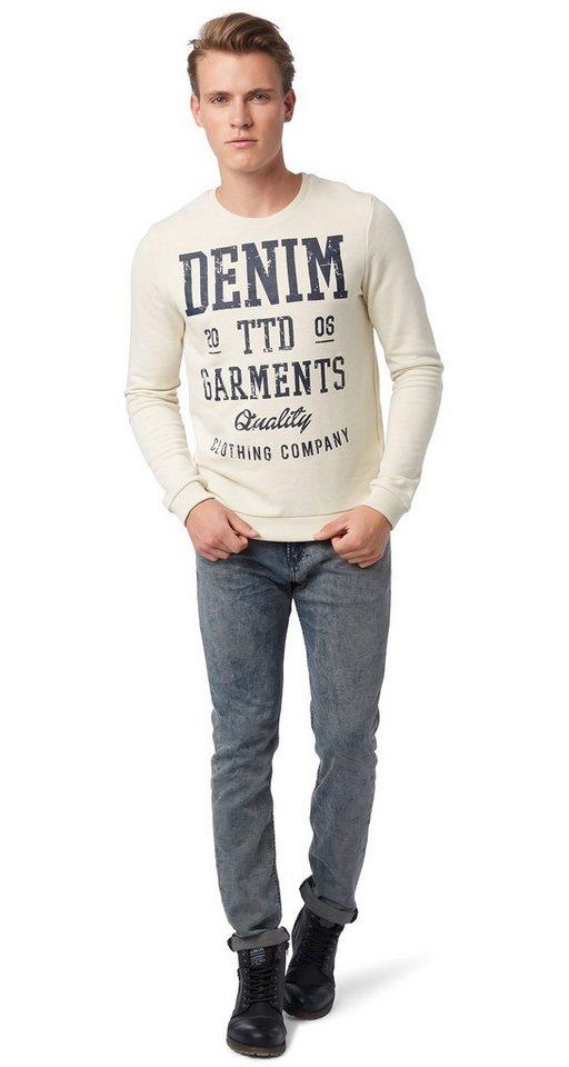 TOM TAILOR DENIM Jeans »PIERS super slim sweat denim« in somber grey