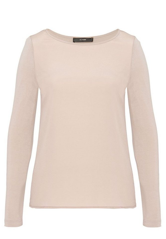 HALLHUBER Longsleeve im Fabric-Mix in puder