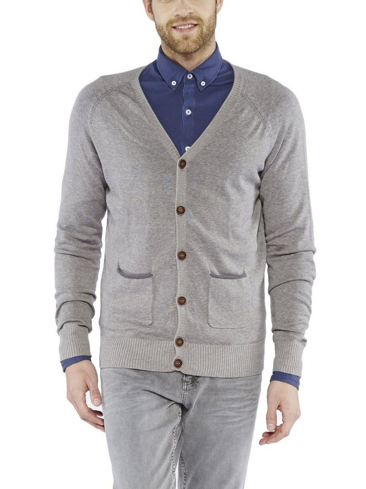 COLORADO DENIM Cardigan »Jonathan« in grey melange