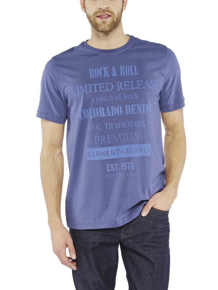 COLORADO DENIM T-Shirt »Ed« in nightshadow