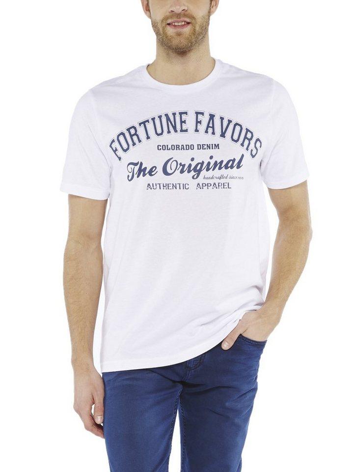 COLORADO DENIM T-Shirt »Rufus« in white